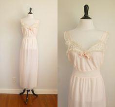 1950s lingerie  Blush of Dawn  vintage 50s pink by 1932vintage, $42.00