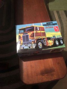 A 1973 White-Freightliner 8664T cabover sleep truck tractor modelkit shown here.