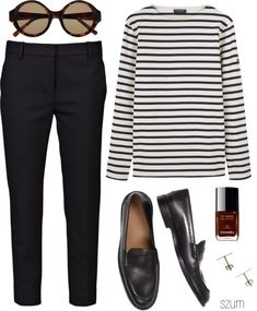 stripes. loafers. skinnies