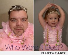 So my 3 yr old challenged me to a dress off... Challenge accepted.