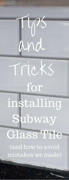 Tips and Tricks for DIY Subway Tile Backsplash Installation via @clarkscondensed