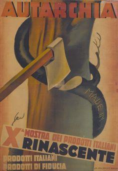 Marcello Dudovich Autarchia. X mostra dei prodotti italiani Rinascente. Prodotti italiani prodotti di fiducia. [Manifesto] Archivio La Rinascente