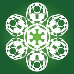 DeathStar | Star Wars SnowFlakes | more here by Chaunce Dolan: http://mattersofgrey.com/diy-star-wars-snowflakes/  ... & more here by Anthony Herrera: http://anthonyherreradesigns.com/