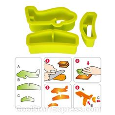 3D Cookie Vegetable Cutter Airplane  $4.95  because it's awesome!