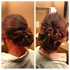 Side updo for a gorgeous bride #updo #weddingupdo #bridalupdo by Liz Vela