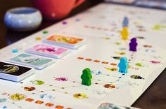"""Tokaido (2012) Each player is a traveler crossing the """"East sea road"""", one of the most magnificent roads of Japan. While traveling, players will meet people, taste fine meals, collect beautiful items, discover great panoramas and visit temples and wild places. At the end of the day, when everyone has arrived at the end of the road you'll have to be the most initiated traveler – which means that you'll have to be the one who discovered the most interesting and varied things."""