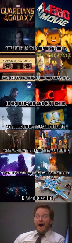 Oh my...... lego movie and guardians of the galaxy