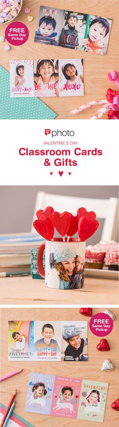 Everything you need for the classroom Valentine's Day party! Create super cute Classroom Cards in minutes and fill a Photo Mug with treats for a sweet teacher's gift. Get it today with FREE Same Day Pickup.