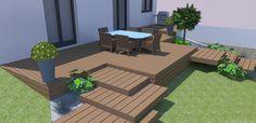 Pour moderniser un jardin, ROOTS Paysages a réalisé l'aménagement d'un terrain en pente avec peu d'entretien. Des marches ont été créées pour simplifier les accès à la terrasse des deux côtés. Sur la partie avant, des marches réalisées en bois sont en décalé pour casser la linéarité des marches classiques avec l'insertion des plantes sur les côtés. Roots Paysages est situé dans les Yvelines (78). Consultez notre site pour plus de précisions.