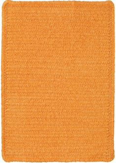 Custom Creations Braided Rug in Orange Crush