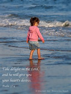 Take delight in the Lord.....