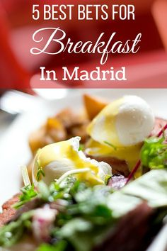 Breakfast in Madrid is varied and delicious! From churros and chocolate, to fresh baked pastries and toast with tomato and olive oil, check out our tips! Madrid Food, At Madrid, Spain Madrid, Madrid Tapas, Montezuma, Breakfast In Madrid, Balanced Vegetarian Diet, Madrid Restaurants, Madrid Travel