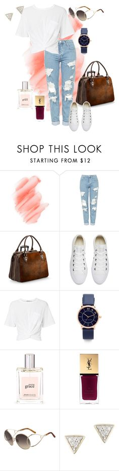 """Untitled #112"" by tammy-stacey ❤ liked on Polyvore featuring Birchrose + Co., Topshop, Aspinal of London, Converse, T By Alexander Wang, Marc Jacobs, philosophy, Yves Saint Laurent, Chloé and Adina Reyter"