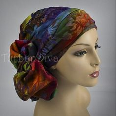 @Turban Diva ~ Batik Turban, Chemo hats, turbans for cancer, head scarf, hats for cancer patients, alopecia, chemo hair loss.