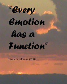 """""""Každá emoce má svůj význam."""" - Daniel Goleman"""