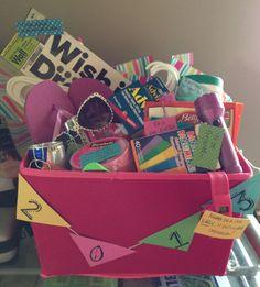 Graduation gift basket - college survival and tips basket