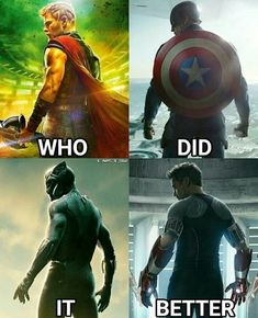 t'challa <<< ..Sorry, Bucky did in my opinion. At some point probably. Yeah.