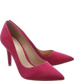 fb48c9d652 Scarpin Bico Fino Nobuck Salto Médio True Pink