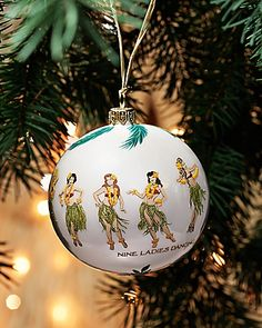 Tommy Bahama - 9 Ladies Dancing Ornament