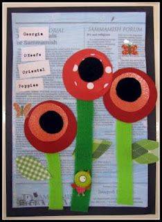 Georgia O'Keeffe. pop art Poppies. preschool and Kinder.