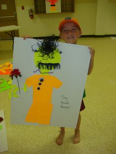 Day 1 at Camp. Ages 6-8. Their Finshed Monsters.