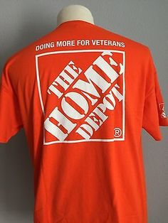 7edf2f81d5d The Home Depot Uniform T-Shirt XL Orange Team Depot Doing More for Veterans