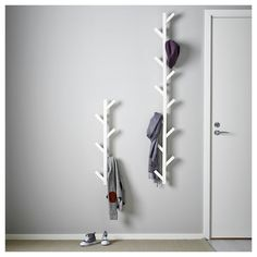 IKEA - TJUSIG, Hanger, black, , The hanger helps you transform an empty wall into a practical storag Ikea Tjusig, Ikea Algot, Black Hangers, Shoe Organizer, Empty Wall, Home Organization, Storage Spaces, Storage Ideas, Kids Storage