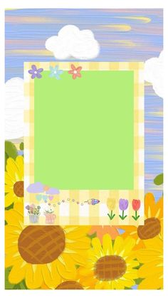 Cute Pastel Wallpaper, Cute Patterns Wallpaper, Cute Emoji Wallpaper, Cute Cartoon Wallpapers, Iphone Wallpaper, Polaroid Decoration, Happy Birthday Template, Overlays Cute, Polaroid Template