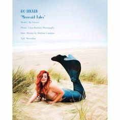 Gina Barbara Photography & Bo Vixxen publication in Pinup Alternative Magazine. Fashion glamour fantasy mermaid San Francisco photoshoot.