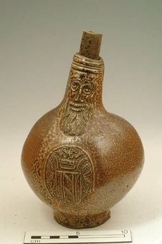 Buy online, view images and see past prices for A saltglazed stoneware Bellarmine or Bartmann. Invaluable is the world's largest marketplace for art, antiques, and collectibles. Witch Bottles, Bottles And Jars, Earthenware, Stoneware, Orange Peel Texture, Glazes For Pottery, Glazed Pottery, English Pottery, Free Museums