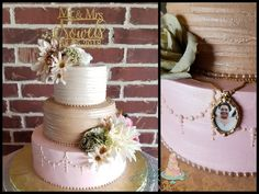 The bride's mom attended from heaven so an edible locket was tucked behind the floral as a sweet surprise. Cake Recipes, Heaven, Cakes, Bride, Mom, Sweet, Floral, Beautiful, Wedding Bride