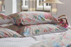 Cuscino rettangolare SHELLEBRATION KHAKIin puro cotone percalle stampato di Pip Studio.