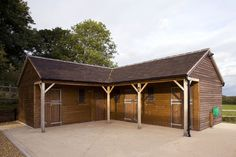 Three Stables and Corner Tack/Feed Room