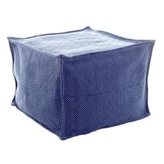 """Shine on, crazy diamond! With its durable, washable polypropylene shell and versatile diamond pattern in two shades of brilliant blue, this indoor/outdoor pouf will be a décor staple for years to come.   • 100% polypropylene shell; filled with polystyrene beads.  • 25""""x 23""""x 17"""". • 25""""x 23""""x 17""""."""
