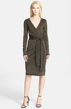 Diane+von+Furstenberg+Long+Sleeve+Wrap+Dress+available+at+#Nordstrom