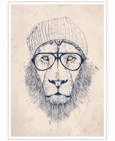 Cool lion VON Balázs Solti now on JUNIQE!