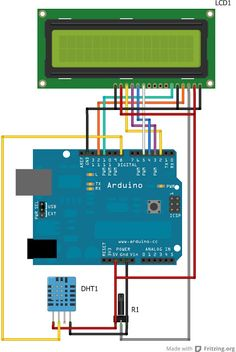 Daniele Alberti, Arduino 's blog: Arduino: Termometro / igrometro digitale con displ...