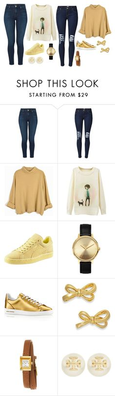 """Untitled #9636"" by beatrizibelo ❤ liked on Polyvore featuring J Brand, Puma, Nixon, Kate Spade, Gucci and Tory Burch"