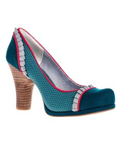 Another great find on #zulily! Ruby Shoo Teal Drew Pump by Ruby Shoo #zulilyfinds