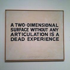 A Two-dimensional surface.... - John Baldessari