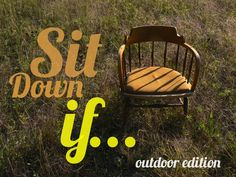 sit down if outdoor edition Youth Ministry Games, Young Adult Ministry, Youth Group Activities, Ministry Ideas, Women's Ministry, Church Games, Kids Church, Church Ideas, Christian Youth Games