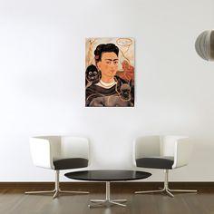 FRIDA KAHLO - Autoritratto con Scimmia #artprints #interior #design #art #prints  Scopri Descrizione e Prezzo http://www.artopweb.com/EC21916