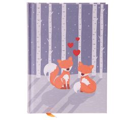 Hardback Lined Note Book - Cute Love Foxes Everyone needs a notebook, whether at school, in the office or around the house, and our range of fan Fox For Sale, Shops, Cute Notes, Interesting Animals, Page Marker, Kawaii, Lined Page, Room Accessories, Gift Baskets