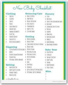 35. New Baby Checklist