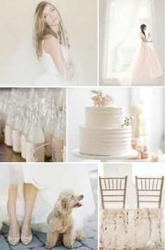 Palest Blush Pink and Neutral Wedding Inspiration Board http://su.pr/1li5ss