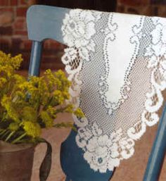 Vintage Rose table lace..machine washable on delicate & hang to dry..