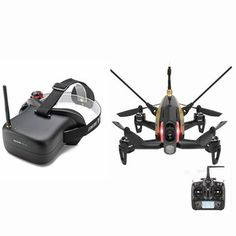 Walkera Rodeo 150 FPV Racing Drone RTF with Eachine VR-007 5.8G 40CH HD FPV Goggles Mode2