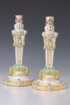 Pair of candlesticks, Meissen, 1880/90