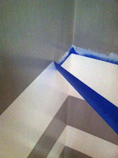 For crisp lines, seal the edges of painter's tape with the base color before painting on the contrasting color.