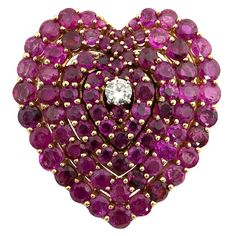 1stdibs - Ruby and Diamond Heart explore items from 1,700  global dealers at 1stdibs.com